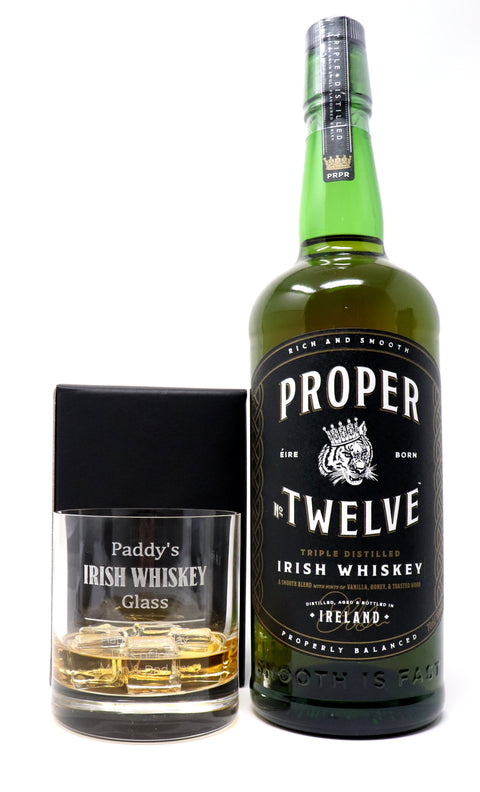 Personalised Premium Tumbler & 70cl Proper No. Twelve - Irish Whiskey Design