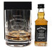 Personalised Crystal Glass Tumbler & Miniature - Jack Daniels Design