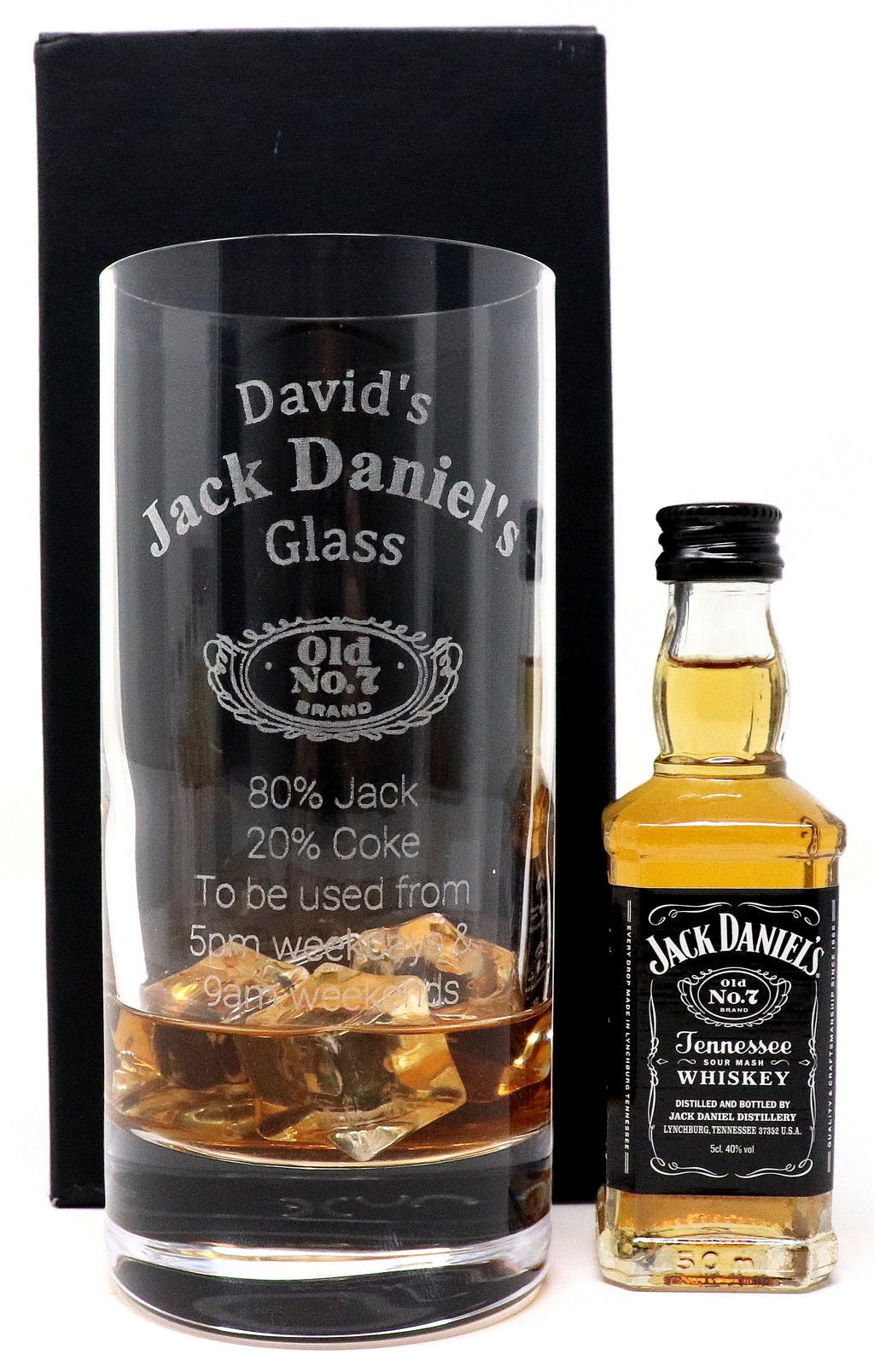 Personalised Premium Highball Glass - Jack Daniels % Design