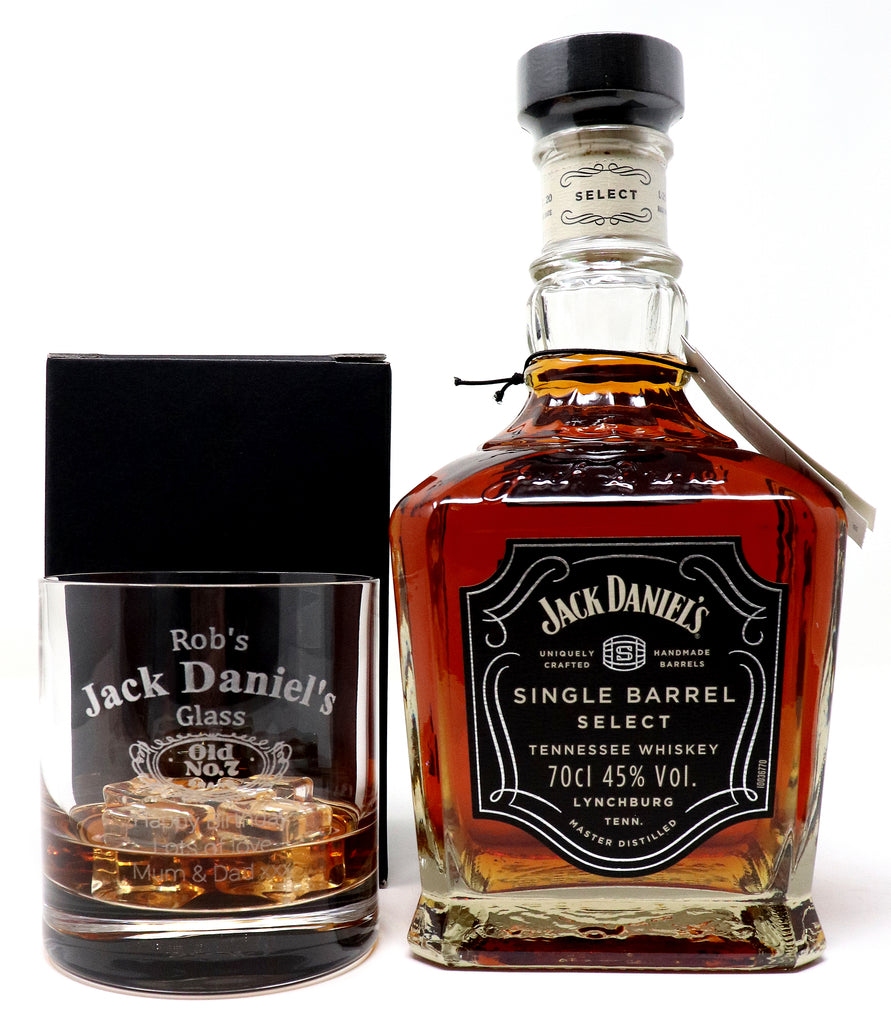 Personalised Premium Tumbler & 70cl Jack Daniel's Single Barrel Tennessee Whiskey - Jack Daniels Design