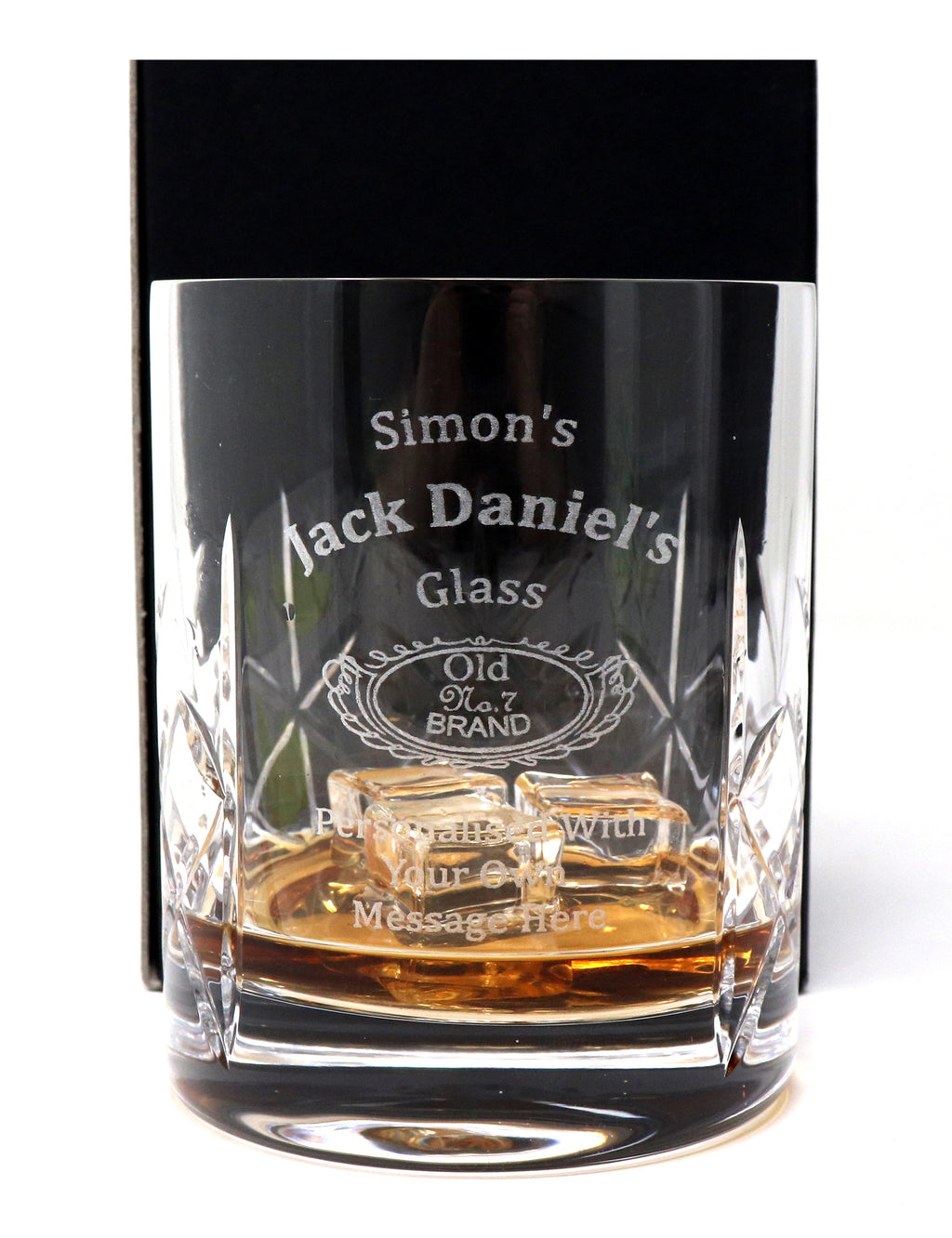 Personalised Crystal Glass Tumbler - Jack Daniels Design