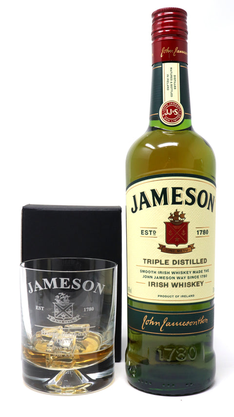 Personalised Dimple Tumbler & 70cl Jameson Irish Whiskey - Jameson Label Design