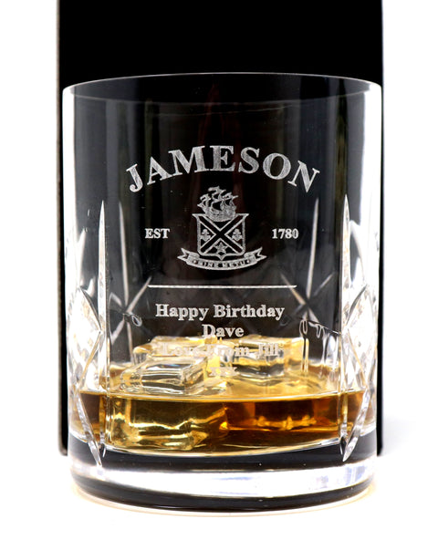 Personalised Crystal Glass Tumbler - Jameson Label Design