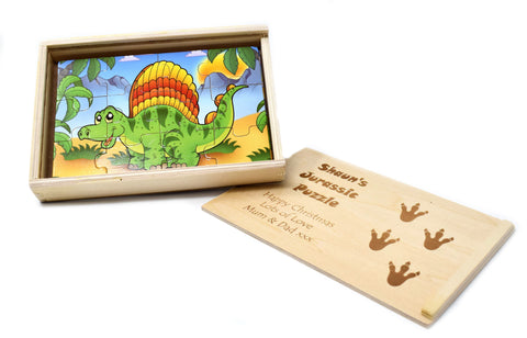 Personalised/Engraved Wooden Dinosaur Puzzles