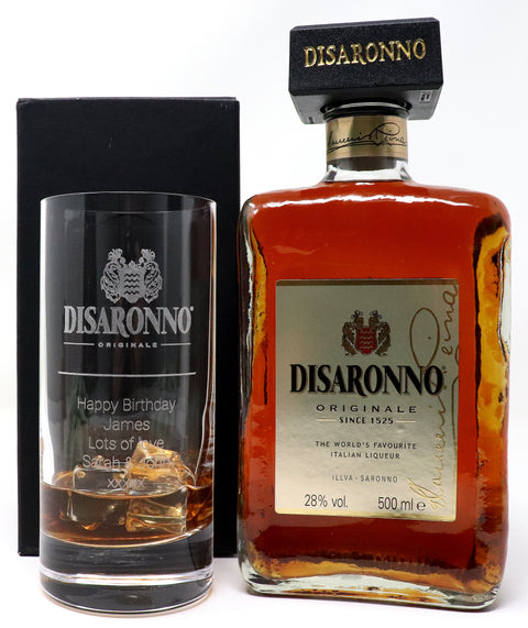 Personalised Premium Highball & 50cl Disaronno - Disaronno Label Design