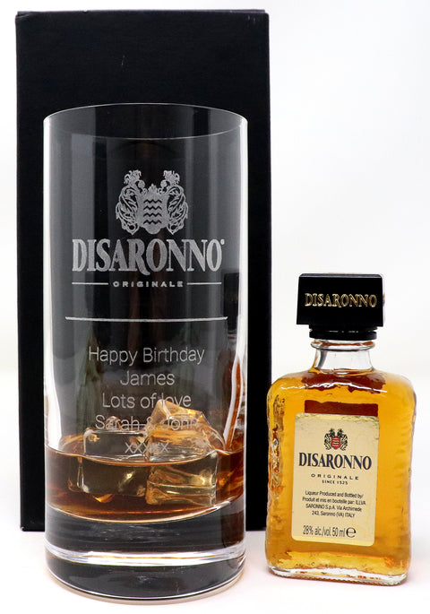 Personalised Premium Highball Glass - Disaronno Label Design