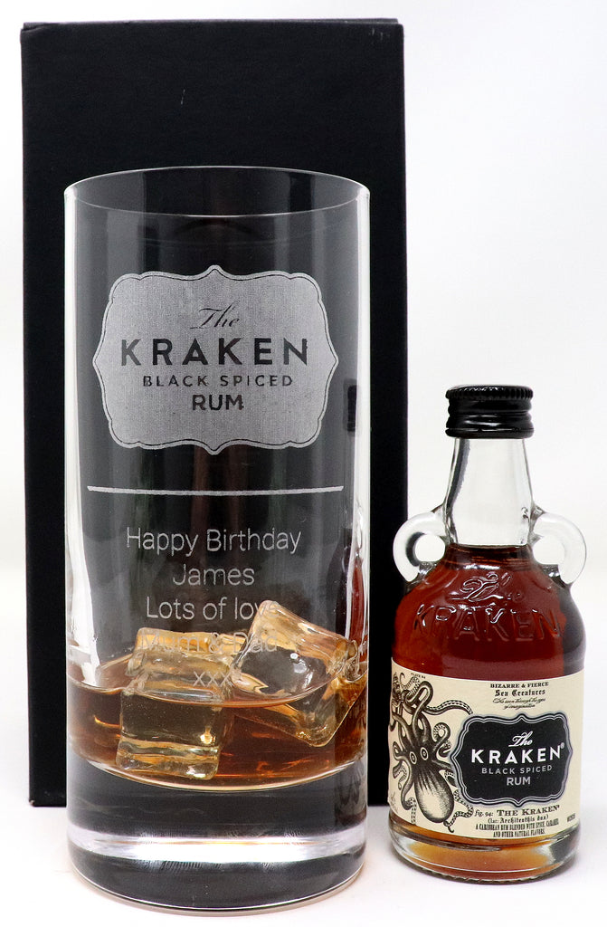 Personalised Premium Highball Glass - Kraken Label Design