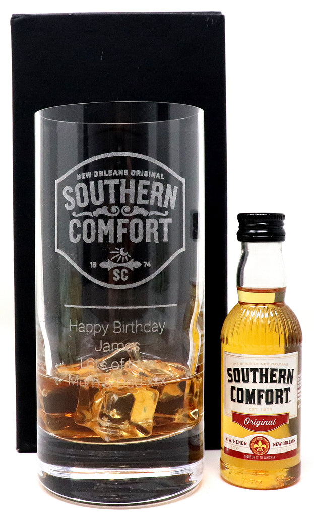 Personalised Premium Highball Glass - Southern Comfort Label Design