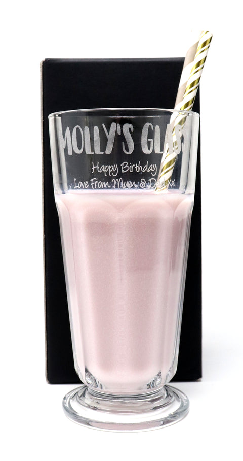 Personalised Milkshake/Ice Cream Sundae Glass