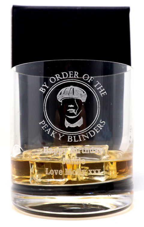 Personalised Pint Glass Tankard - Peaky Blinders Design