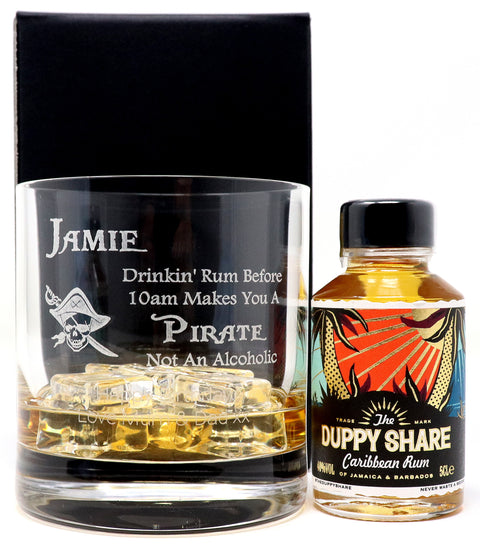 Personalised Premium Tumbler - Pirate Rum Design