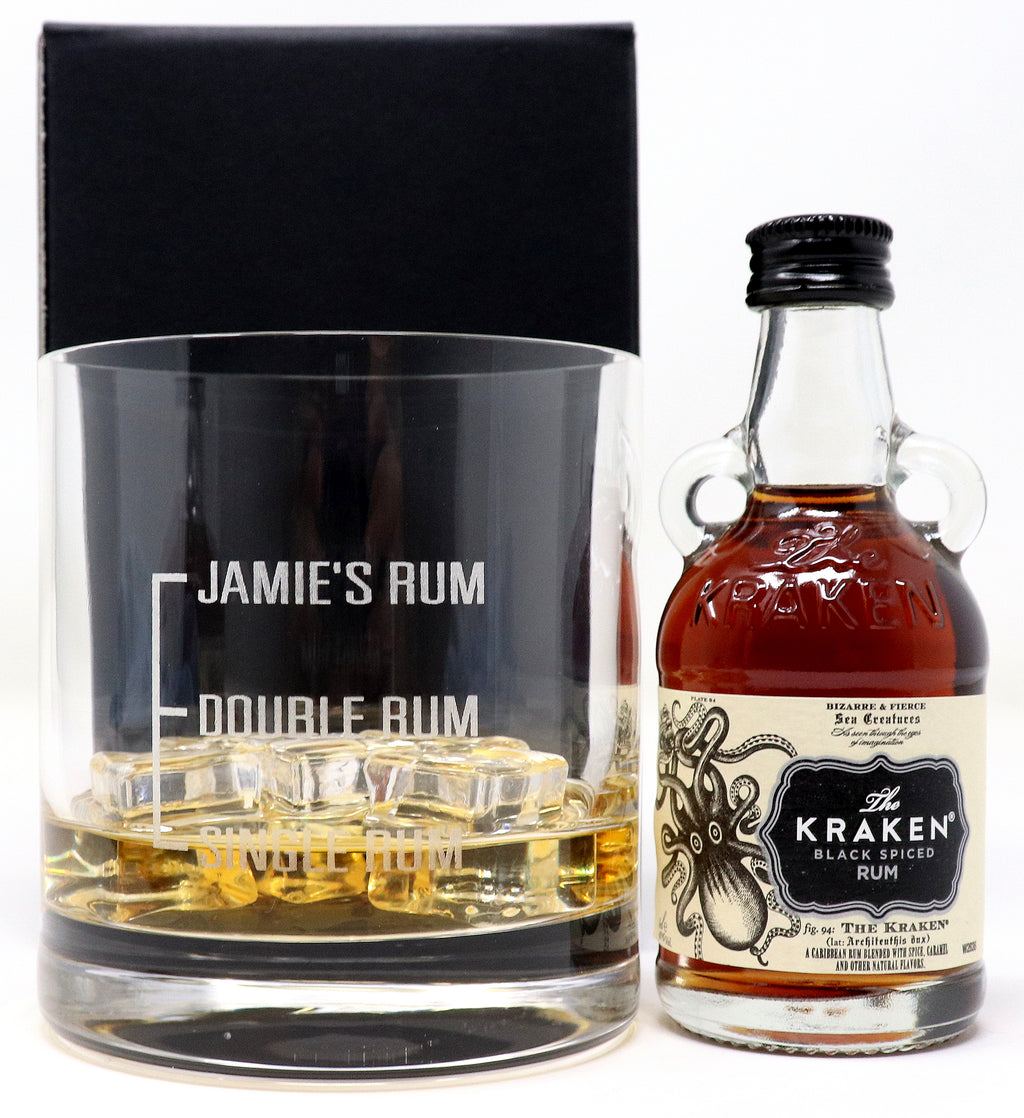 Personalised Premium Tumbler - Single/Double Rum Design