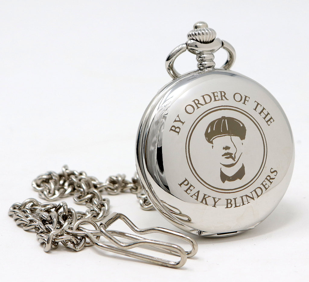 Personalised Silver Pocket Watch - Peaky Blinders Design