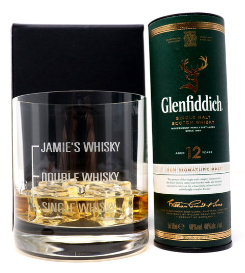 Personalised Premium Tumbler - Single/Double Whisky Design