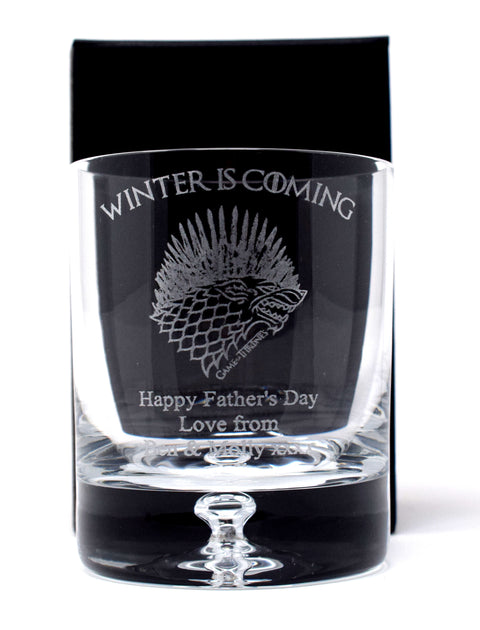 Personalised Dimple Tumbler - Game of Thrones Winter Design