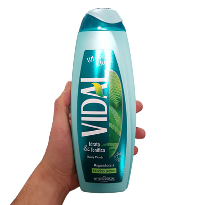 VIDAL BODY WASH ML 500 WHITE MUSK X 12