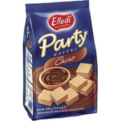 ELLEDI WAFER GR 250 PARTY X 10 COCOA QUADRETTI