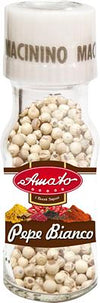 AMATO SPICES WHITE PEPPER GR 30 WITH GRINDER X 12