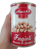 AMATO LEGUMES GR 400 COOKED WHITE BEANS IN TIN BUONI SAPORI QUALITY X 24