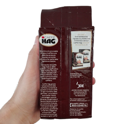 HAG GROUND COFFEE GR 250 BAG DECAF X 16