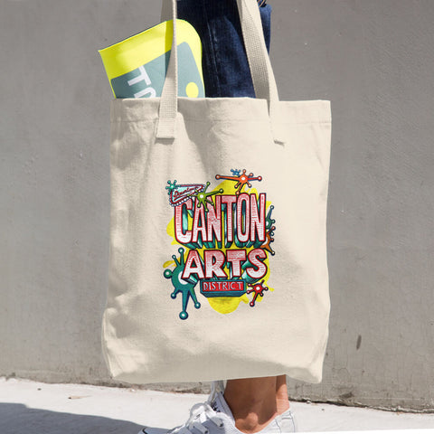CANTON ARTS DISTRICT 2018 CAMPAIGN FUNDRAISER (DESIGNED BY CANTON ARTIST TIM EAKIN) Cotton Tote Bag