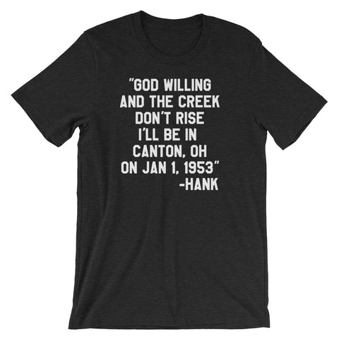 HANK'S LAST WORDS Short-Sleeve Unisex T-Shirt