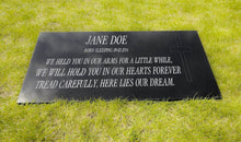 Large Highly Polished Granite Memorial