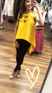 Yellow Bow Top