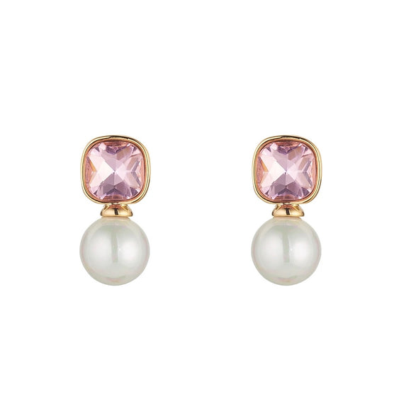 K & D Rose & Pearl Earrings