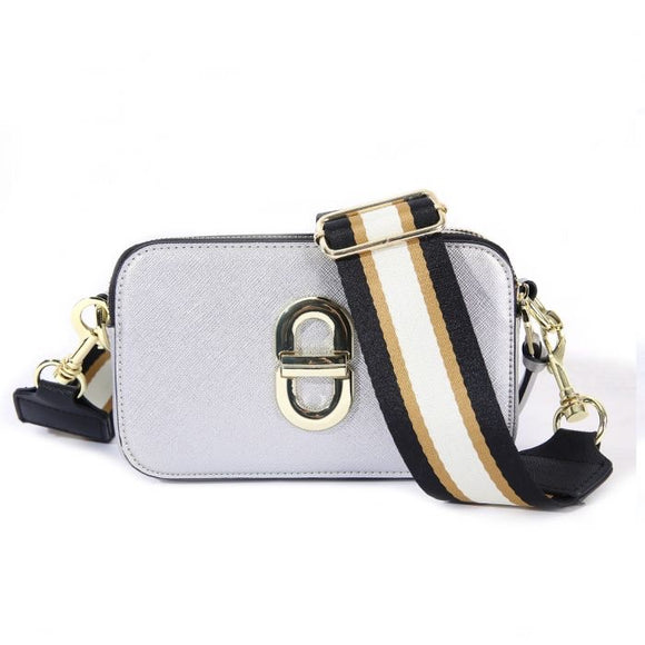 Silver Crossbody Handbag