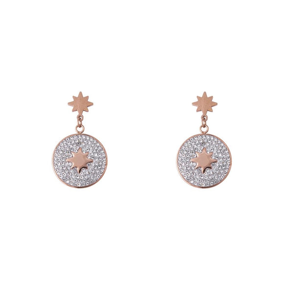 K&D Esme Rose-Gold Earrings