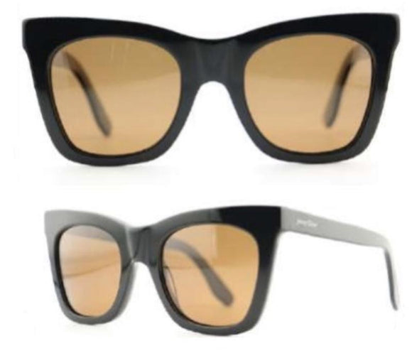 Jenny Glow Moschino Inspired Sunglasses-Black