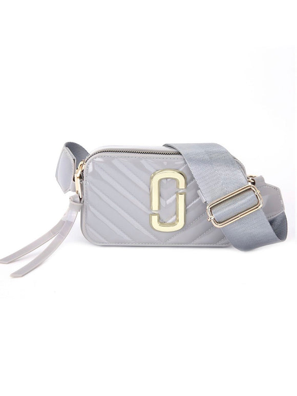 Patent Marc Jacobs Inspired Crossbody Bag- Silver