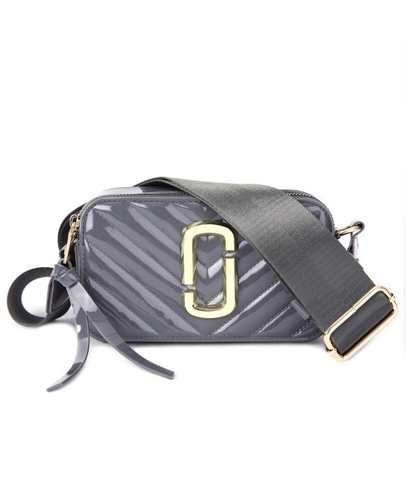 Patent Marc Jacobs Inspired Crossbody bag - Grey