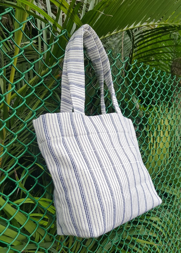 Blue Handwoven Handbag