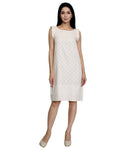 Off White Semi Formal Dress for Women in India