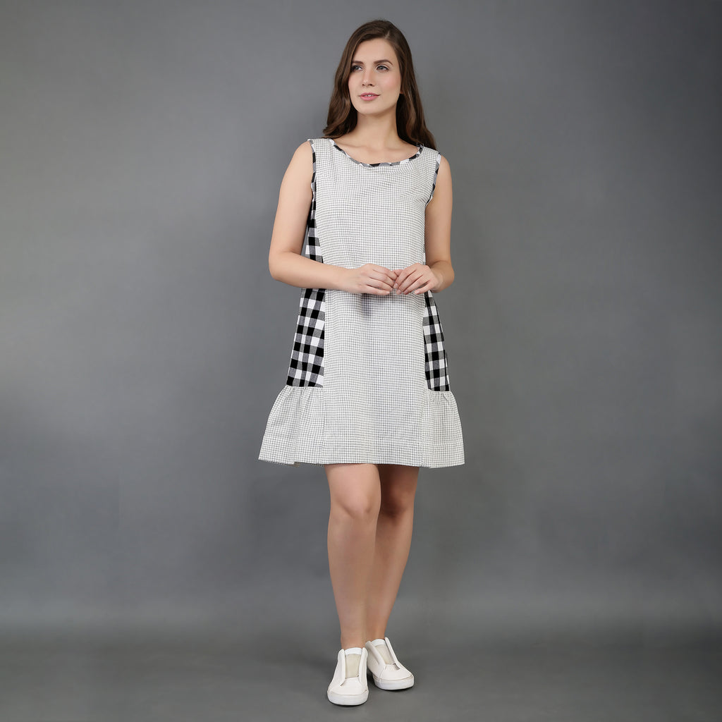 Checked Cotton Dresses for Women in India