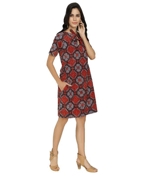 Summer Barn - Ajrakh Printed Summer Dress - Right View