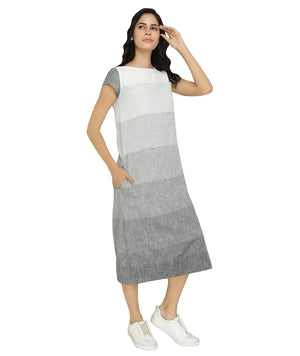 Summer Barn - Grey White Ombre Resort Dress