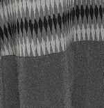 Summer Barn - Black Grey Ikat Long Dress - Fabric View
