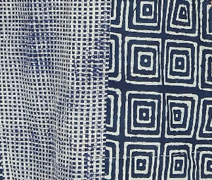 Summer Barn -  Twin Indigo Print Dress - Fabric View
