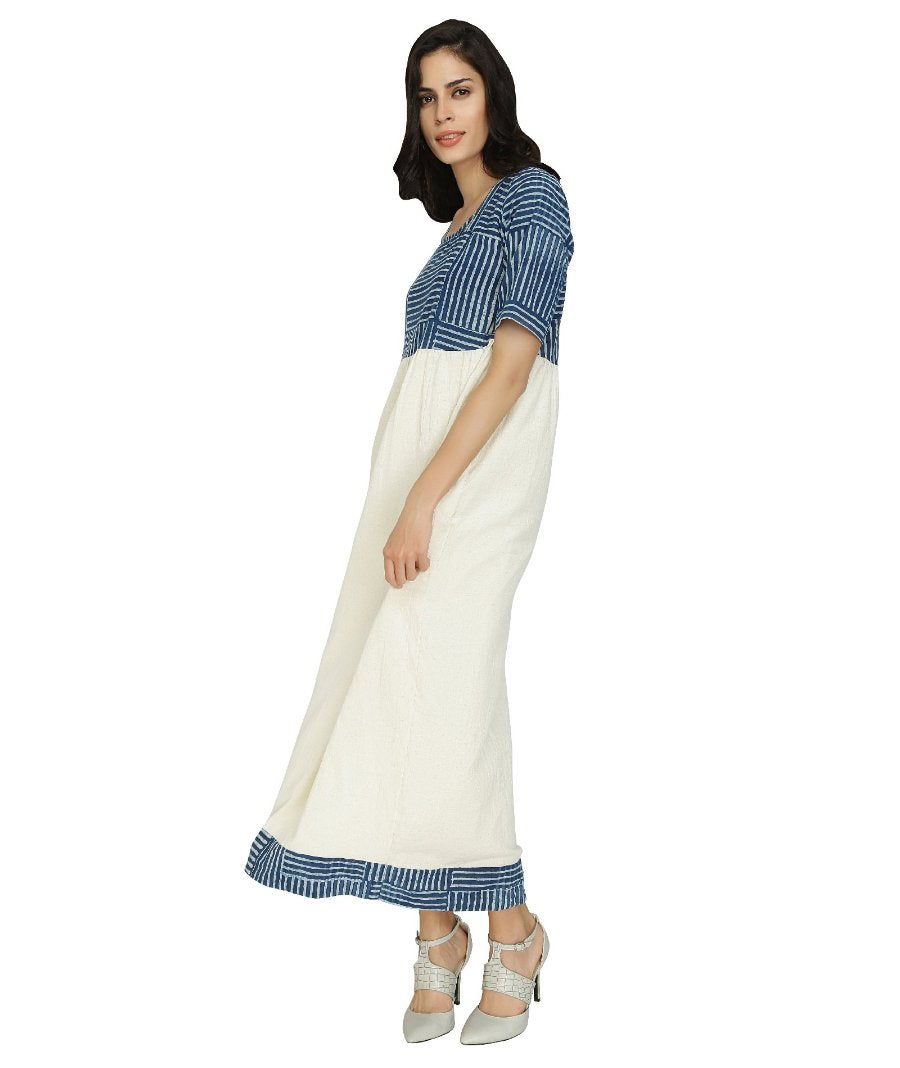 Summer Barn - Indigo and Handloom Cotton Resort Dress - Swing View