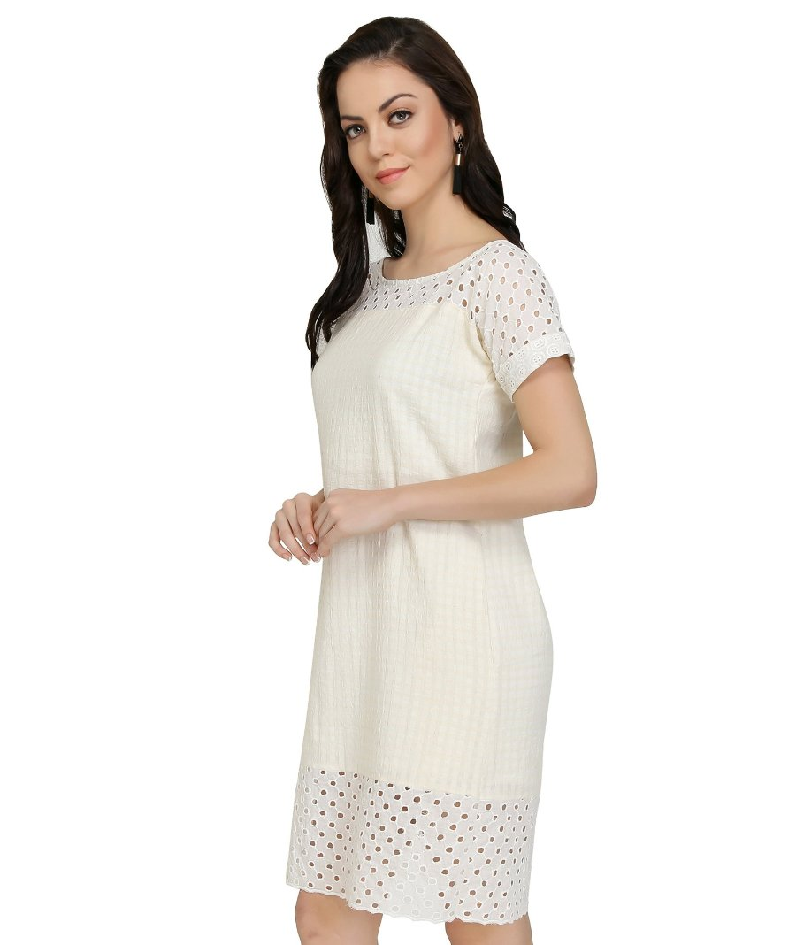 Summer Barn - Cotton Dobby Resort Dress