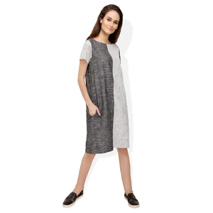 Black and White Cotton Dress