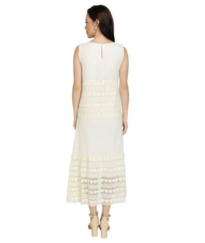 Summer Barn - Dobby & Cotton Crochet Resort Dress
