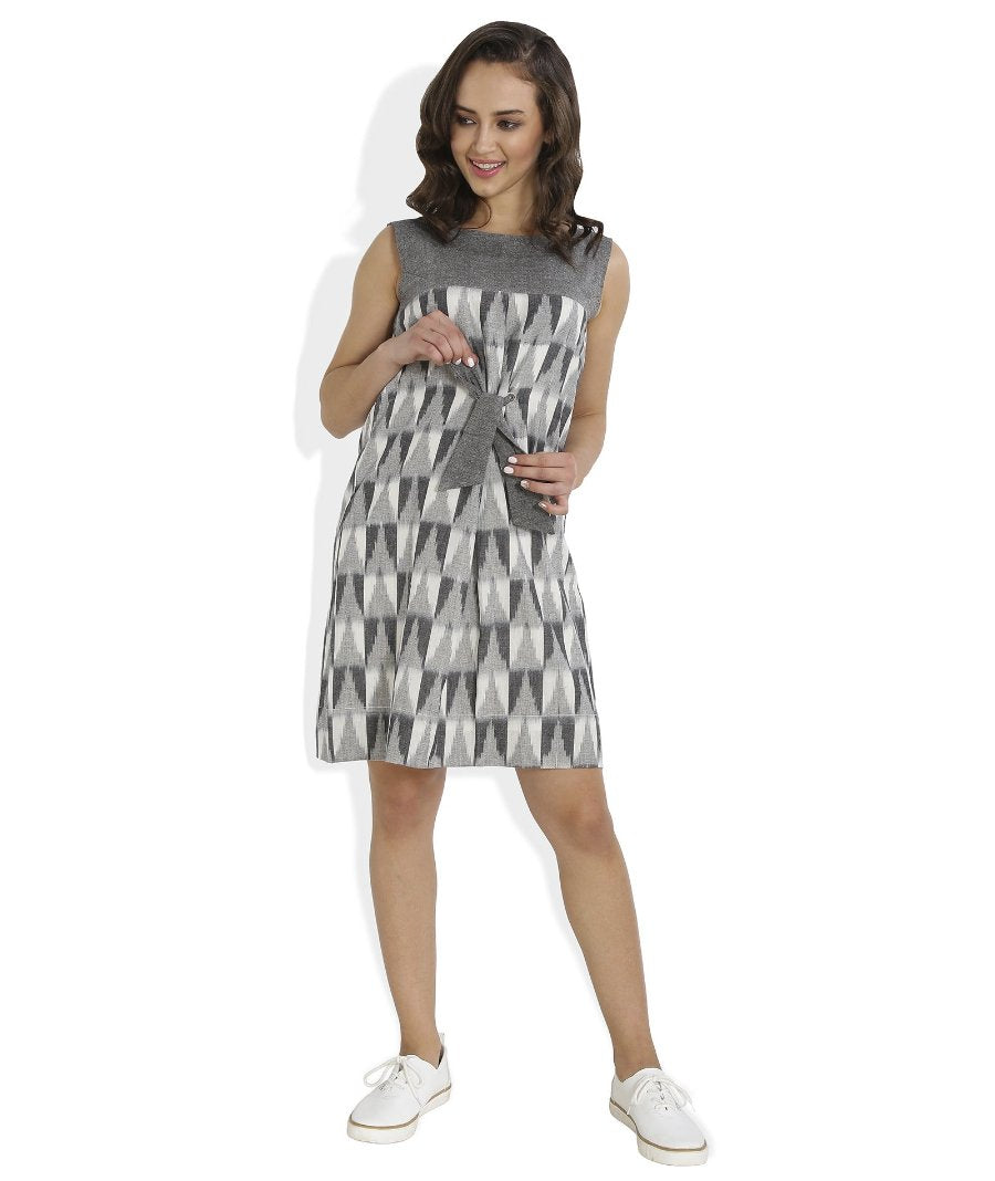 Summer Barn - Ikat Checks Shift Dress - Front View