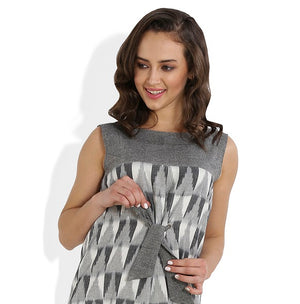 Summer Barn - Ikat Checks Shift Dress - Fabric View
