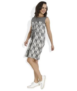 Summer Barn - Ikat Checks Shift Dress - Side View
