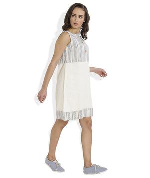 Summer Barn - Blue Striped Shift Dress - Right View