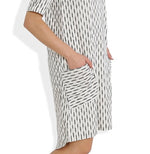 Summer Barn - Asymmetrical Handwoven Ikat Dress - Pocket View